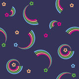 Vector seamless retro pattern with stars Stock Photo