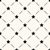 Vector seamless retro pattern with stars Royalty Free Stock Photography