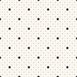 Vector seamless retro pattern with stars Stock Images