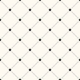Vector seamless retro pattern with stars Royalty Free Stock Photo
