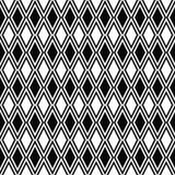 Vector seamless rhombus pattern. Geometric texture. Black-and-white background. Monochrome diamond-shaped design. royalty free illustration