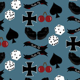 Vector seamless rockabilly style pattern Royalty Free Stock Images