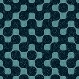 Vector Seamless Rounded Shape Geometric Irregular Retro Grungy Blue Navy Pattern Royalty Free Stock Photos