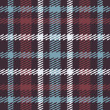 Vector seamless scottish tartan pattern in blue, red, white, navy. British or irish celtic design for textile, clothes, fabric or for wrapping, backgrounds Royalty Free Stock Photo