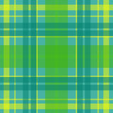 Vector seamless scottish tartan pattern in green, blue, turquoise, yellow. British or irish celtic design for textile, clothes, fa Royalty Free Stock Images