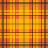 Vector seamless scottish tartan pattern in orange, black, red, yellow. British or irish celtic design for textile, clothes, fabric Stock Photos