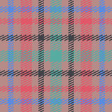 Vector seamless scottish tartan pattern in pink, blue, turquoise, black, beige. British or irish celtic design for textile, clothe Royalty Free Stock Image