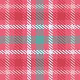 Vector seamless scottish tartan pattern in pink, blue, turquoise and white. British or irish celtic design for textile, fabric, clothes or for wrapping Royalty Free Stock Image