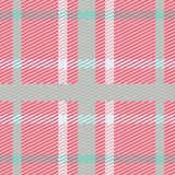 Vector seamless scottish tartan pattern in pink, blue, turquoise and white Royalty Free Stock Images