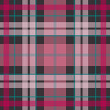 Vector seamless scottish tartan pattern in pink, purple, navy blue Royalty Free Stock Photography
