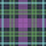 Vector seamless scottish tartan pattern in purple Royalty Free Stock Photo