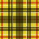 Vector seamless scottish tartan pattern in yellow, black, white and red Stock Photo