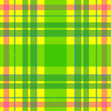 Vector seamless scottish tartan pattern in yellow, green, pink. British or irish celtic design for textile, clothes, fabric or for Stock Photos