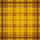 Vector seamless scottish tartan pattern in yellow, orange and brown Royalty Free Stock Images