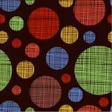Vector seamless shading circles background. Eps10 Royalty Free Stock Photos