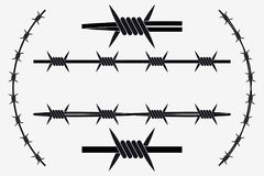 Vector Seamless Silhouette of Barbed Wire Royalty Free Stock Images