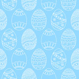 Vector seamless simple pattern with easter eggs. Easter holiday Stock Photo