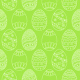 Vector seamless simple pattern with easter eggs. Easter holiday Royalty Free Stock Photos