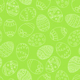 Vector seamless simple pattern with easter eggs. Easter holiday Stock Image