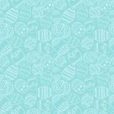 Vector seamless simple pattern with ornamental eggs. Easter holiday green background for printing on fabric, paper for Stock Photo