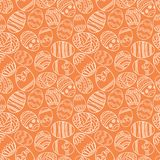 Vector seamless simple pattern with ornamental eggs. Easter holiday green background for printing on fabric, paper for Royalty Free Stock Photos