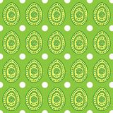 Vector seamless simple pattern with ornamental eggs. royalty free illustration