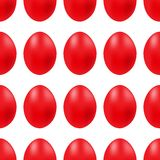 Vector seamless simple pattern with red easter egg on white background stock illustration