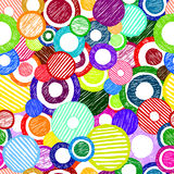 Vector seamless sketchy circles Stock Photo
