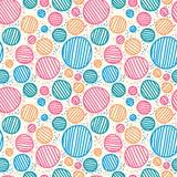 Vector seamless sketchy circles. Royalty Free Stock Image
