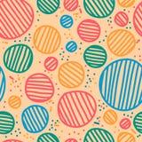 Vector seamless sketchy circles. Royalty Free Stock Photography