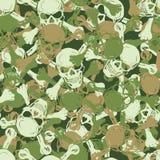 Vector. Seamless skull camouflage pattern Stock Photo