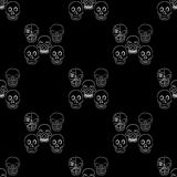 Vector seamless with skulls Stock Image