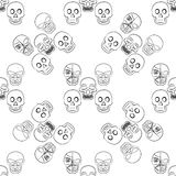 Vector seamless with skulls Royalty Free Stock Photography