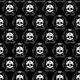 Vector seamless with skulls Royalty Free Stock Images