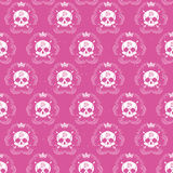 Vector seamless with skulls Stock Photography