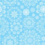 Vector seamless snow pattern Stock Photography