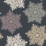 Vector Seamless Snowflake Pattern Stock Photo