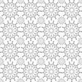 Vector seamless snowflake pattern white and gray color Royalty Free Stock Photos
