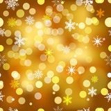 Vector seamless snowflakes background. Royalty Free Stock Photos