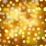 Vector seamless snowflakes background. Royalty Free Stock Photos