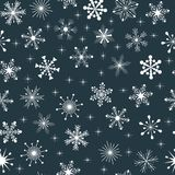 Vector seamless snowflakes pattern Stock Image