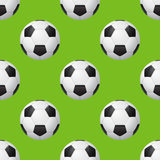 Vector seamless soccer pattern Royalty Free Stock Photos