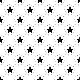 Vector seamless space background with stars Stock Photography