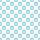 Vector seamless spotted pattern. Polka dot hand drawn pattern Royalty Free Stock Image