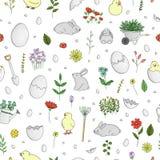 Vector seamless spring pattern vector illustration