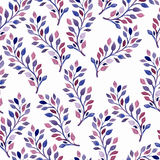 Vector Seamless Spring Pattern With Watercolor Branches Royalty Free Stock Image