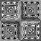 Vector Seamless Square Ethnic Patterns Stock Photos