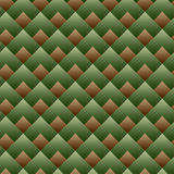 Vector - Seamless Square Pattern Green Set Stock Image