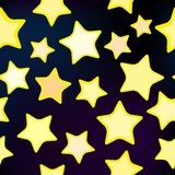 Vector seamless star pattern. Illustration of a seamless star pattern for design Stock Photography