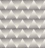 Vector Seamless Stippling Chevrone ZigZag Halftone Gradient Pattern Stock Photography